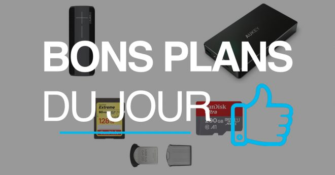 Les meilleures offres Que vous soyez photographe, stockeur compulsif ou que vous ayez besoin d'avoir votre bibliothèque musicale toujours avec vous, il n'y a que des bonnes raisons pour jeter un œil aux promotionsSanDisk : clé USB, clé Lightning, cartes SD et cartes SDXC. Jusqu'à 44% sur les périphériques de stockageSanDisk — Offre du jour […]