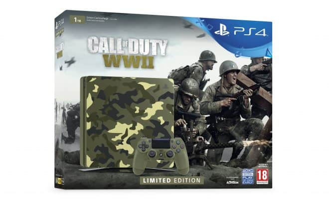 une PS4 collector pour Call of Duty WWII.