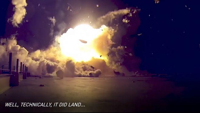 Techniquement, cette fusée s'est posée