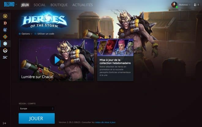 Battle.net version octobre 2017