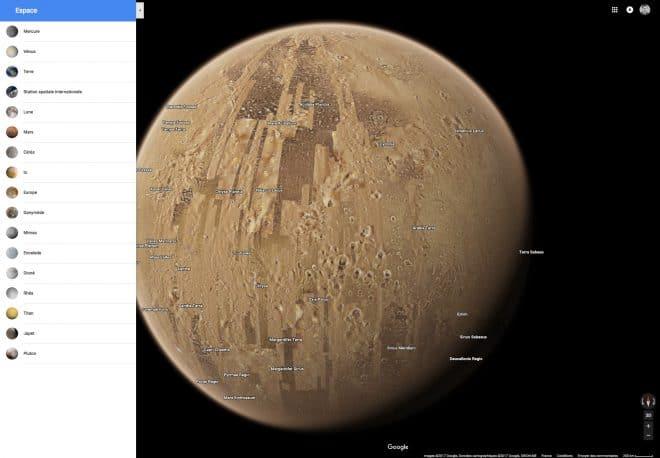 Mars sur Google Maps
