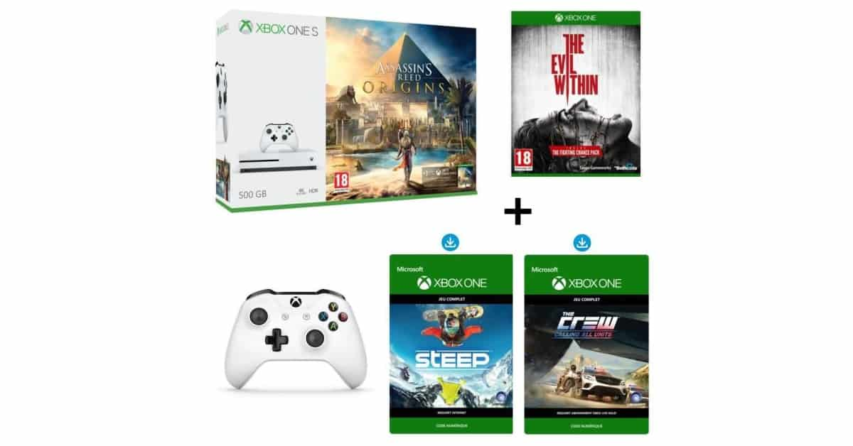 xbox one s 500 go assassin 39 s creed origins 2e manette. Black Bedroom Furniture Sets. Home Design Ideas