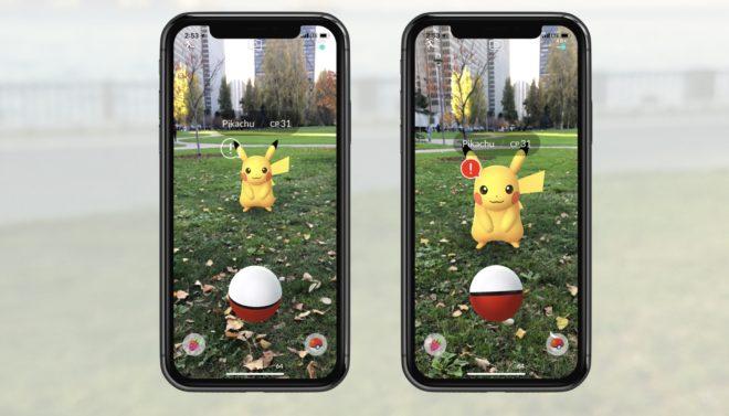 Pokémon Go sur iPhone avec AR+