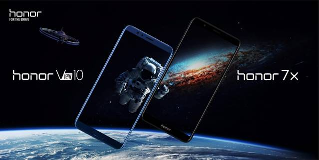 Honor 7X et Honor View 10