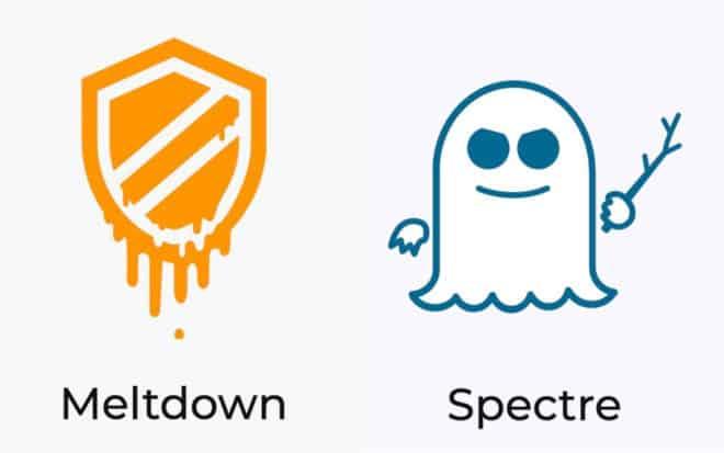 Les logos des failles Meltdown et Spectre
