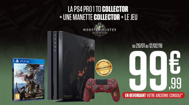 Monster hunter world la ps4 pro collector sera vendue chez micromania zing - Ps4 pro boulanger ...