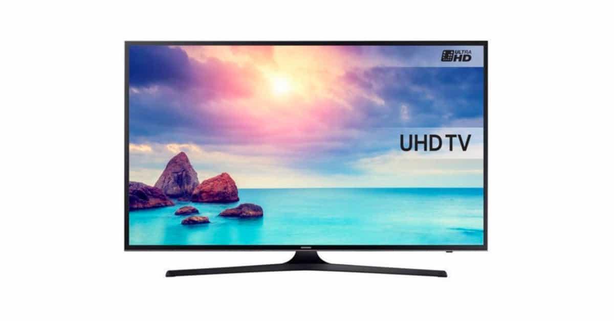 samsung une smart tv 4k led 43 39 39 399 au lieu de 599. Black Bedroom Furniture Sets. Home Design Ideas