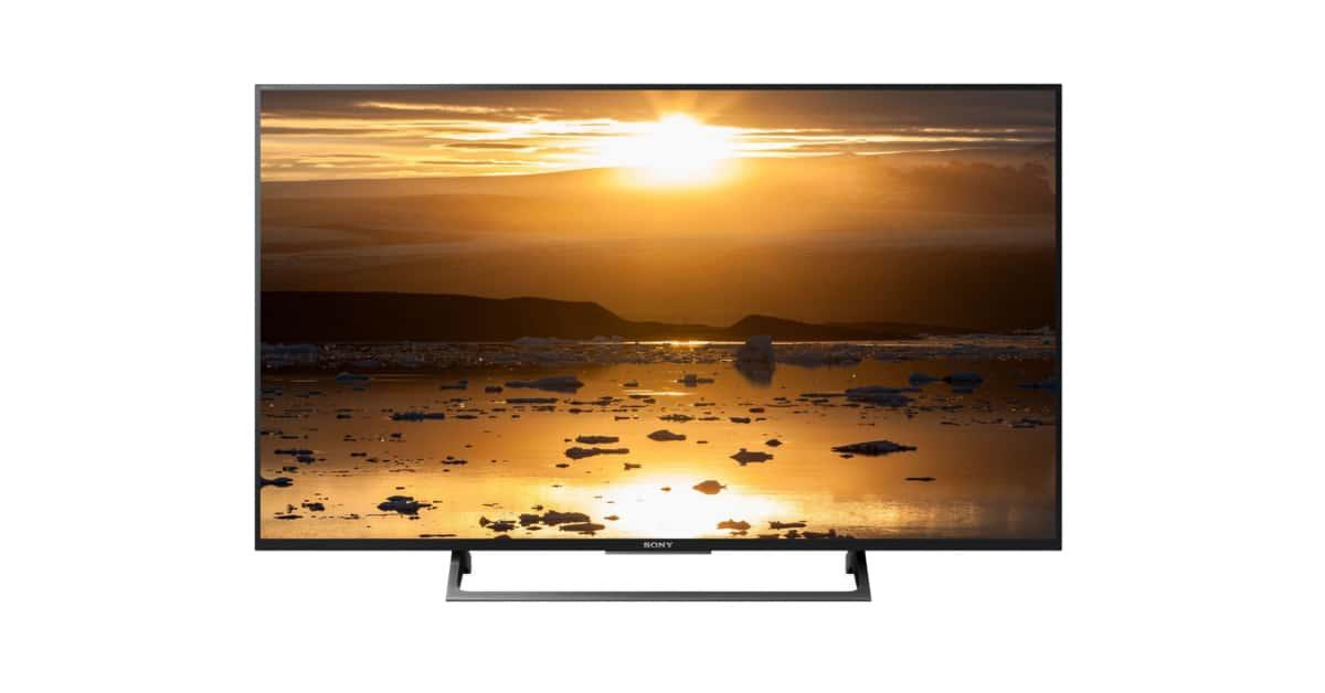 soldes d 39 hiver 2018 la tv 4k hdr sony kd49xe7077s 649 au lieu de 999. Black Bedroom Furniture Sets. Home Design Ideas
