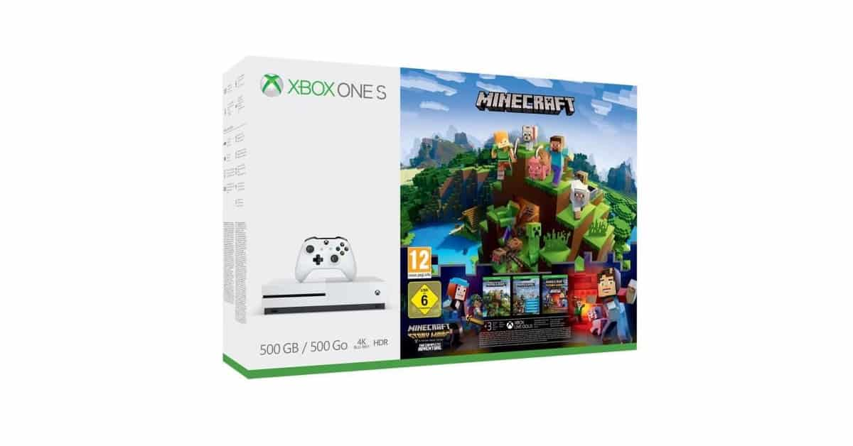 xbox one s 500 go minecraft un pack 269 seulement. Black Bedroom Furniture Sets. Home Design Ideas