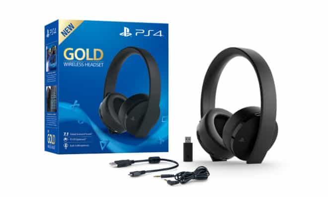 PS4 Wireless Headset Gold