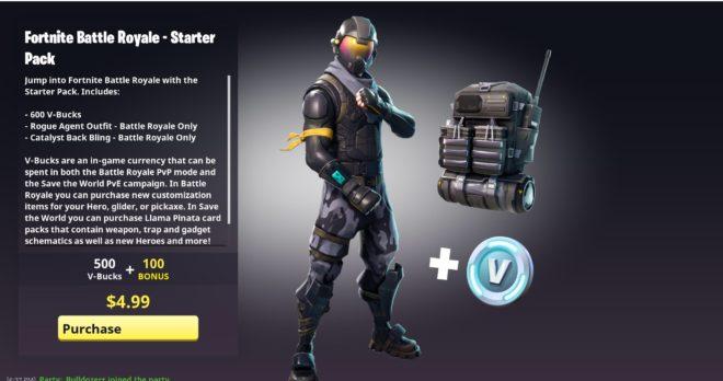 Le Starter Pack Fortnite