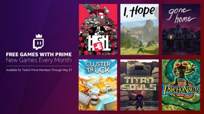 Les jeux Twitch Prime de mai