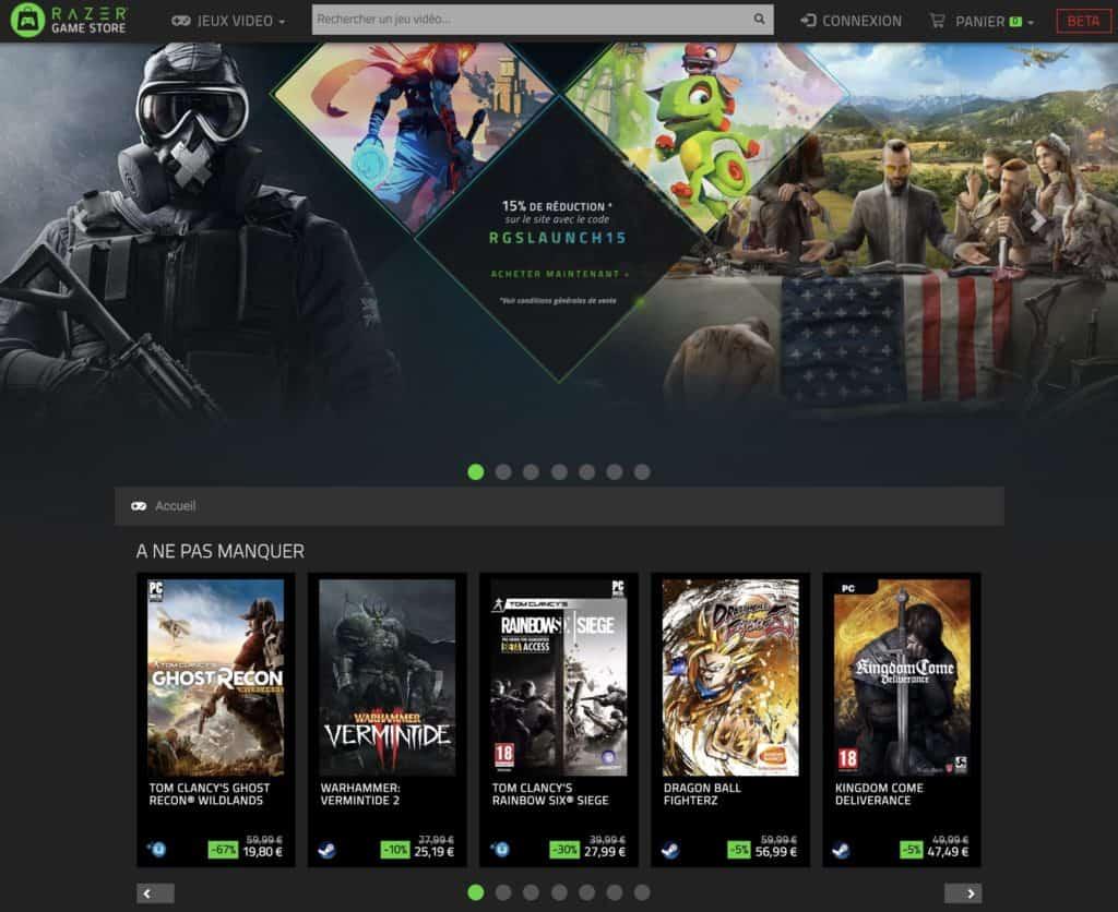 Le Razer Game Store fermera ses portes le 28 Février