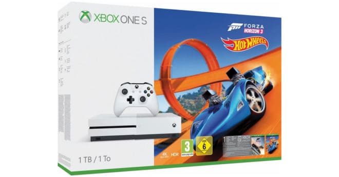 bon plan un pack xbox one s 1 to forza horizon 3 hot wheels 199. Black Bedroom Furniture Sets. Home Design Ideas
