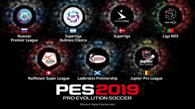 Konami annonce sept nouvelles ligues sous licence pour PES 2019.