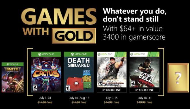 Games with Gold de juillet 2018