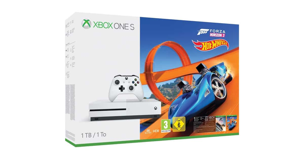 bon plan la xbox one s 1 to forza horizon 3 hot wheels 199. Black Bedroom Furniture Sets. Home Design Ideas