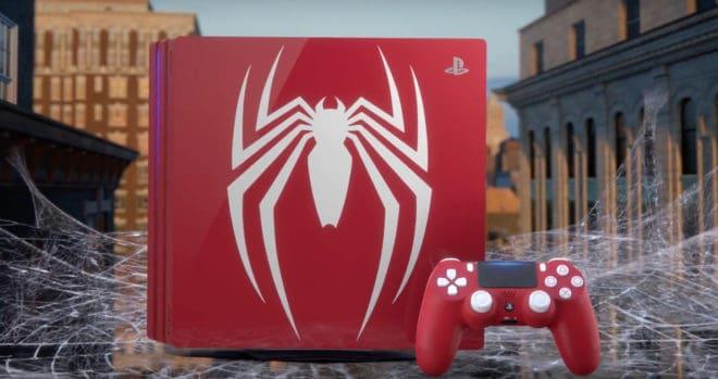 Une PS4 Pro collector pour Spider-Man.