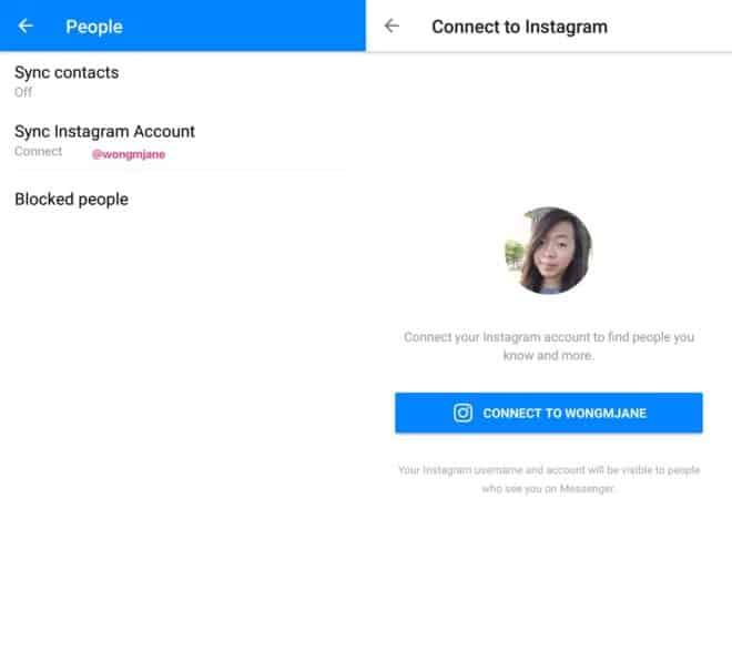 Facebook Messenger Instagram Sync
