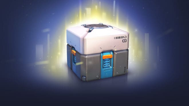 Une loot box d'Overwatch
