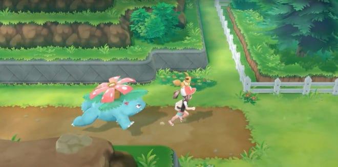 Nintendo et The Pokémon Company ont dévoilé de courtes vidéos montrant comment certains Pokémon se déplacent lorsqu'ils suivent le joueur dans Pokémon Let's Go.