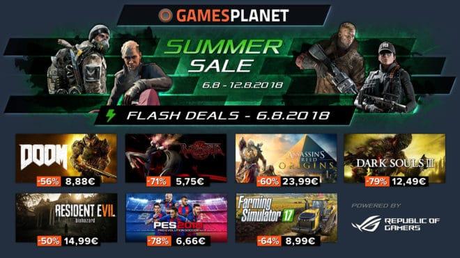 Gamesplanet propose comme chaque été ses Summer Sale avec jusqu'à 80% de réduction sur les plus gros hits vidéoludiques de cette année, mais aussi les essentiels (meilleures ventes et meilleures critiques presse et public) des années passées. Au programme de ce lundi, du FPS bien bourrin avec DOOM, du tactique avec XCOM 2 et de […]
