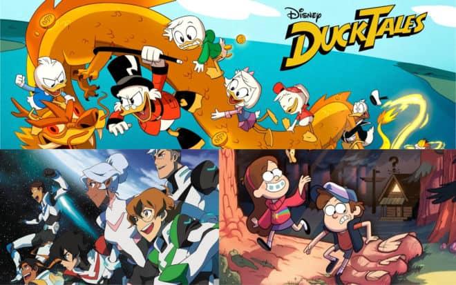 DuckTales, Voltron, Gravity Falls... et bien d'autres