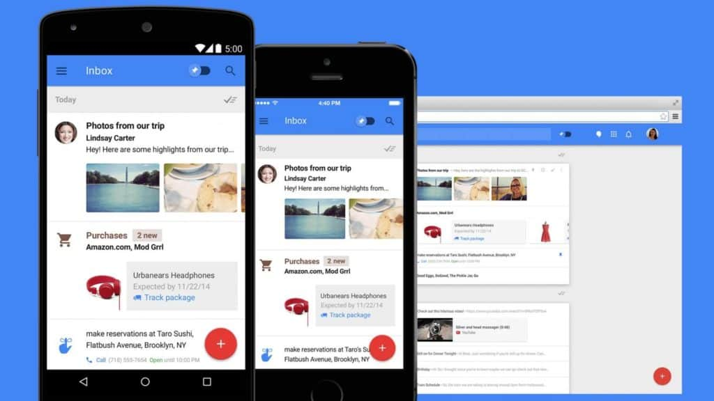 L'application Google Inbox fermera ses portes le 2 Avril 2019