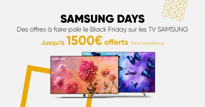 """Vous êtes tentésde faire l'acquisition d'une TV Samsung LED ou OLED après avoir fait une """"étude de marché"""" pour trouver le produit qui correspond le plus à vos besoins et à vos attentes ? Si votre choix se porte sur l'un des modèles concernés par l'offre Samsung Days, vous êtes encore plus chanceux. Un remboursement […]"""