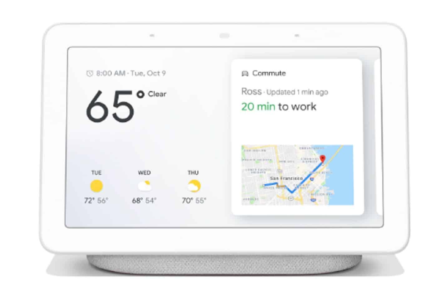 google pr sente le home hub son cran connect capable de. Black Bedroom Furniture Sets. Home Design Ideas