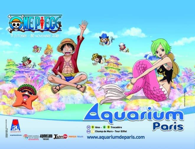 L'Aquarium de Paris propose une exposition dédiée au manga One Piece.