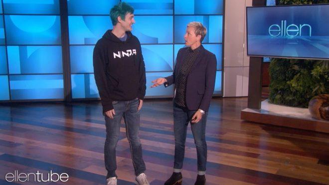 Ninja et Ellen DeGeneres
