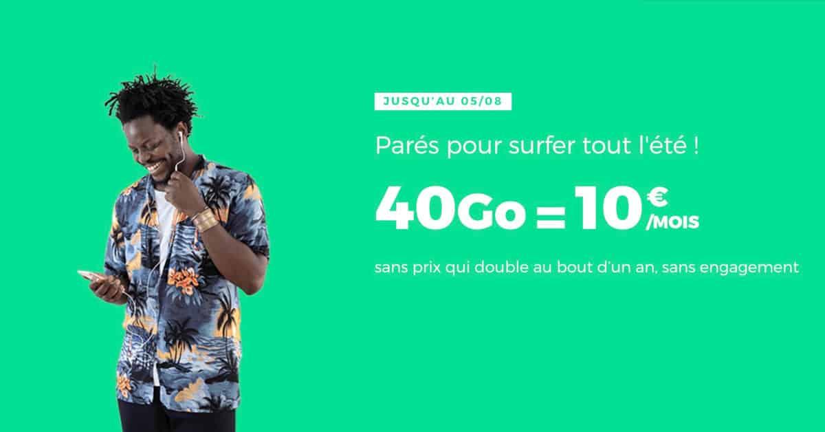 RED by SFR : le forfait 40 Go à 10 euros