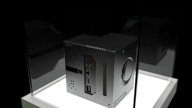 """Prototype d'une """"console"""" de Google."""