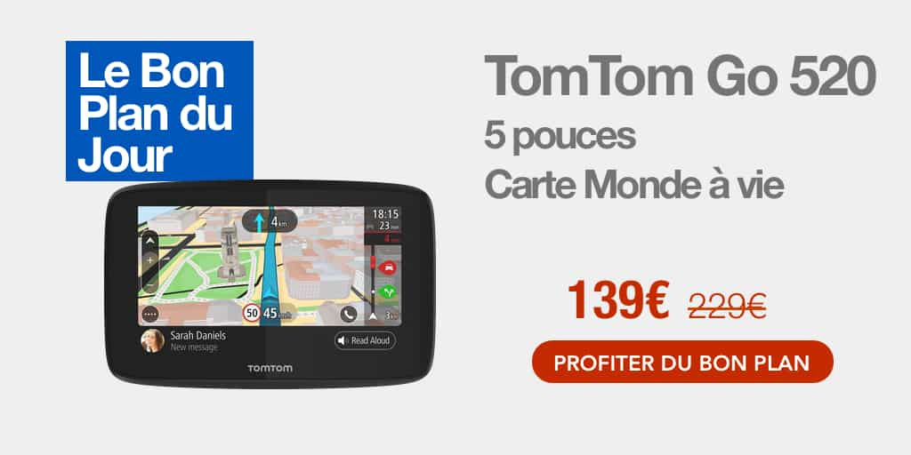 Bon plan : le GPS TomTom GO 520 à -40%