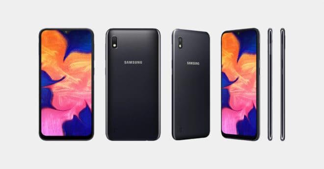 Le Samsung Galaxy A10 en Noir