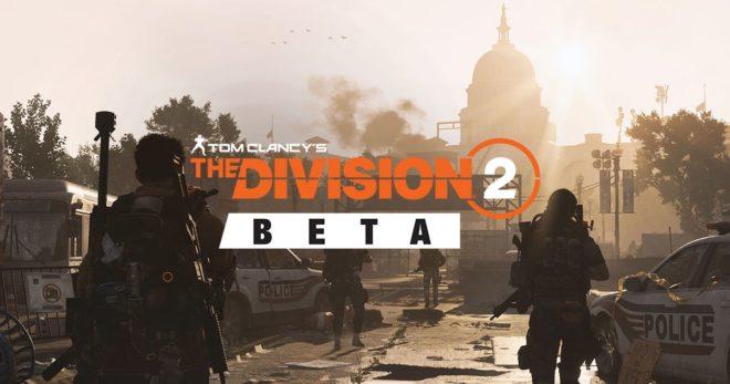 La bêta publique de The Division 2 se trouve une date.