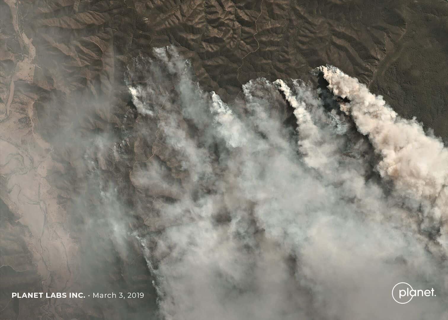 Incendie de Licola, Victoria – © 2019 Planet Labs, Inc.