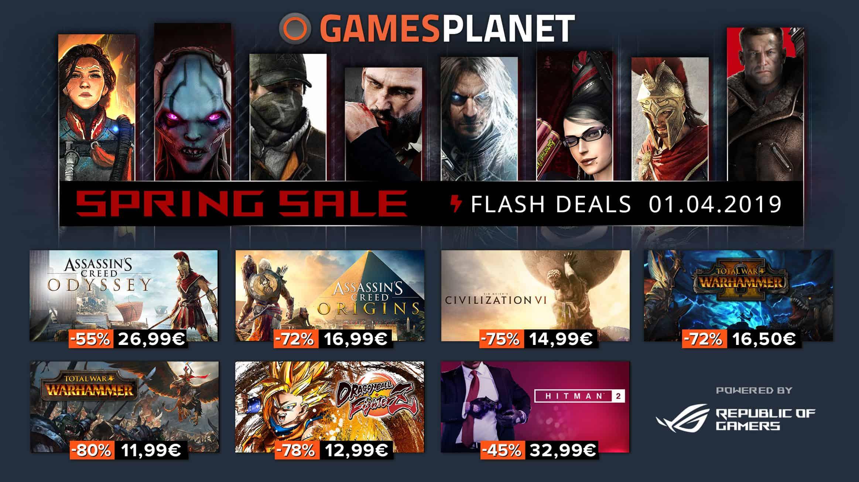 Gamesplanet : les 10 meilleures offres des soldes de printemps