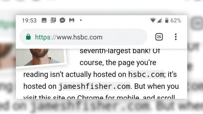 phishing Google Chrome