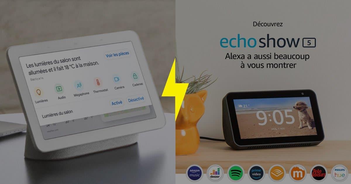 Google Nest Hub vs. Amazon Echo Show 5 : quel assistant connecté choisir ?