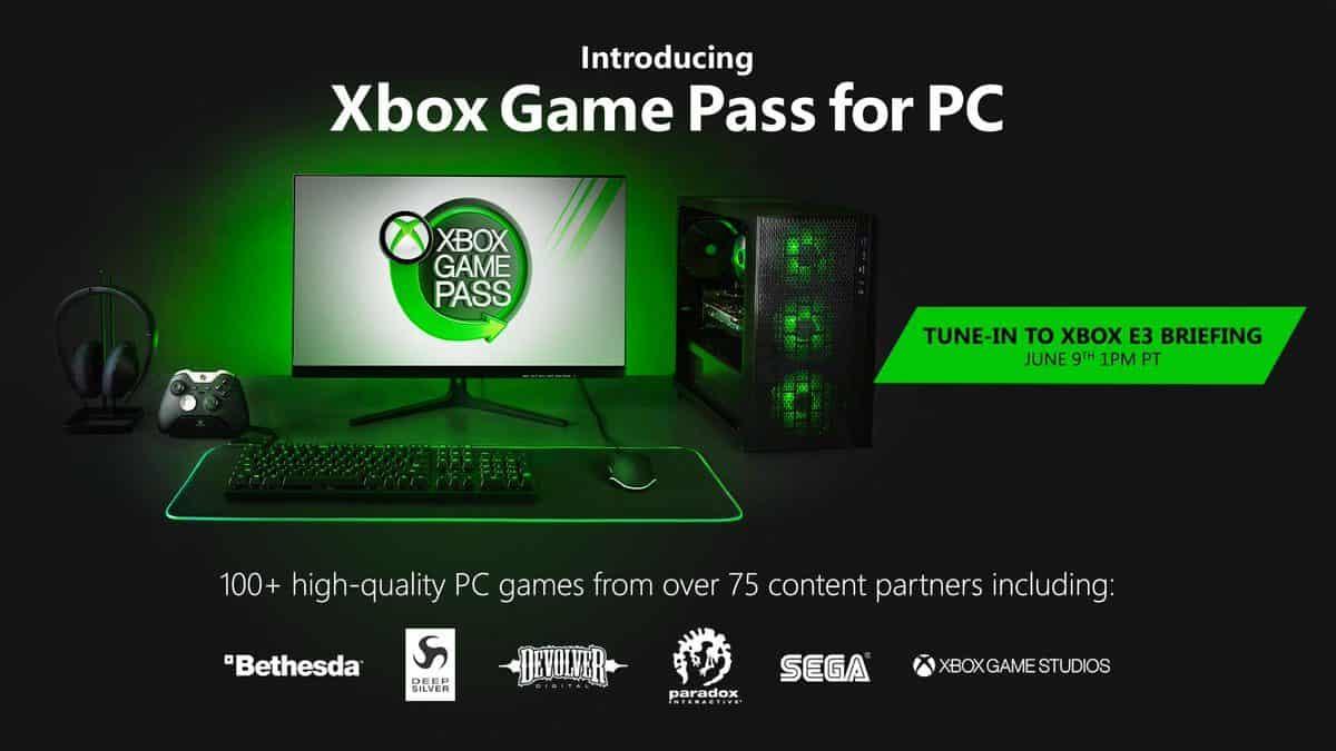 Microsoft annonce l'arrivée du Xbox Game Pass sur PC