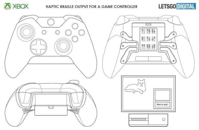 brevet Microsoft manette Xbox braille