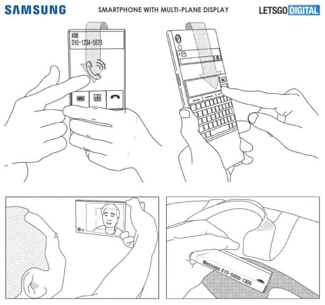 brevet smartphone écran multi face