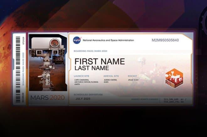 NASA nom Mars