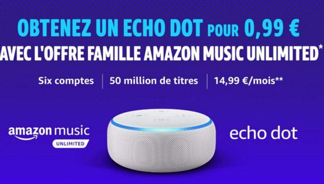 Amazon Music Unlimited Famille Echo Dot