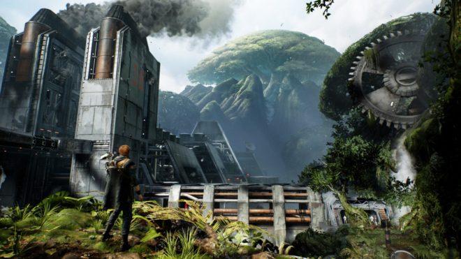 Du gameplay pour Star Wars Jedi : Fallen Order à l'E3 2019.