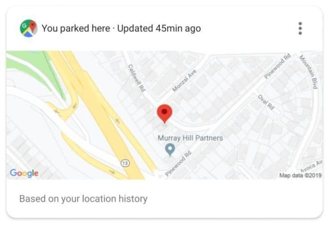 Google Assistant parking