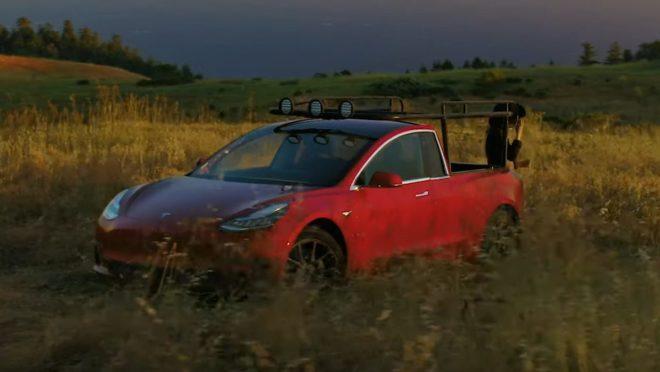 Tesla Model 3 pickup Truckla