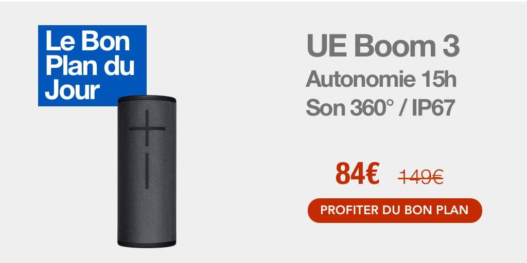 Bon plan : l'enceinte sans fil UE Boom 3 à 86€